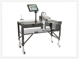 Eastey Variable Speed Conveyor with Squid Ink's CoPilot Printing System mounted